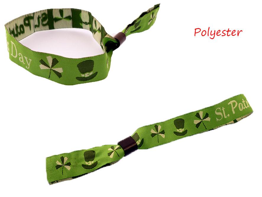bracelet tissu bague plastique
