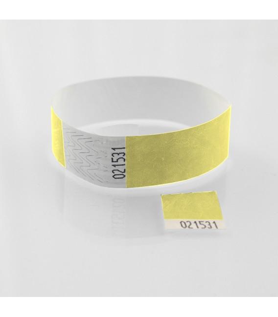 Bracelet Tyvek Zéro déchet avec coupon détachable - marqué