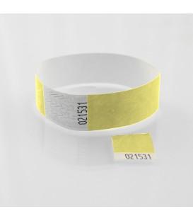 Bracelet tyvek zéro déchet 19mm  avec coupon détachable - marqué