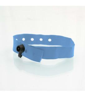 Bracelet tissu clip plastique polyester - marqué