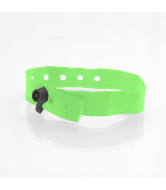 Bracelets tissu clip plastiques polyester - marqués