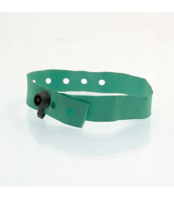 Bracelets tissu clip plastique - vierges