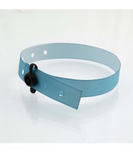 Bracelet satin clip plastique - marqué
