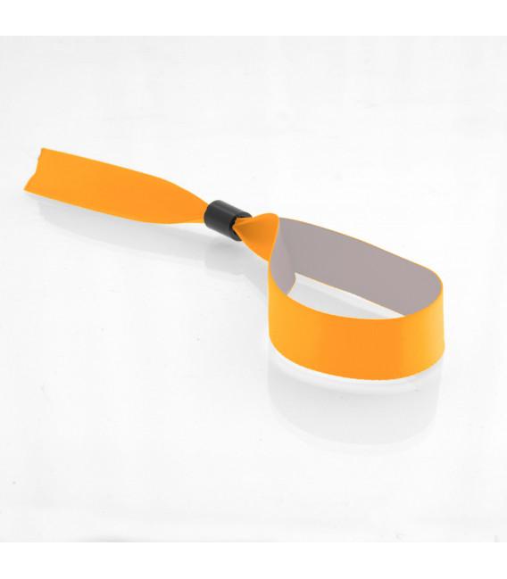 Bracelets tissu satin épais bague plastique - marqués