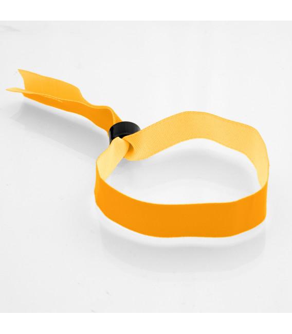 Bracelets tissu polyester bague plastique - marqués