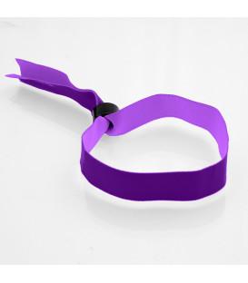 Bracelet tissu polyester bague plastique - marqué