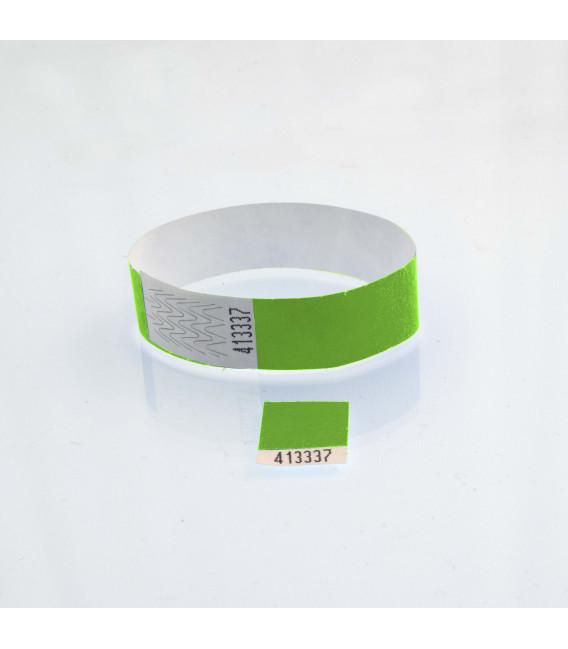 Bracelet tyvek 19 mm avec coupon détachable - marqués