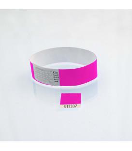 Bracelet tyvek 19 mm avec coupon détachable - vierge