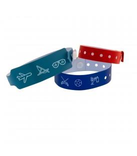Bracelet vinyle personnalisé à usage unique