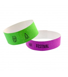 Bracelets à usage unique papier tyvek