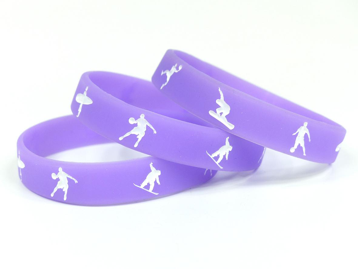 bracelet de contrôle silicone creux