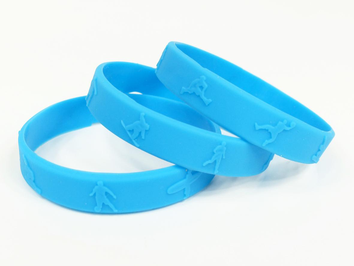 Bracelet événementiel silicone relief