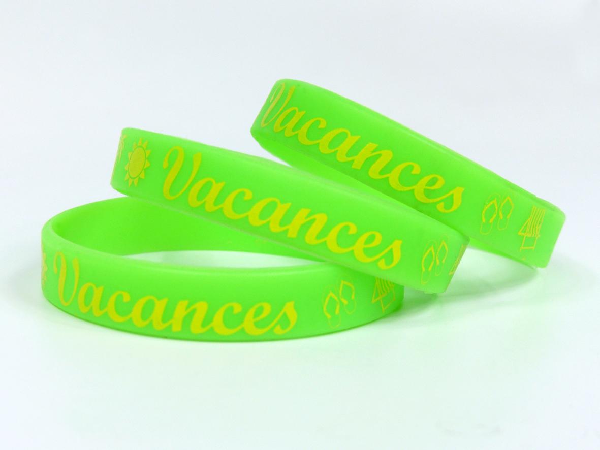 Bracelet d'identification silicone sérigraphié